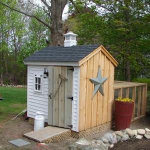 Custom Built Chicken Coop in New England