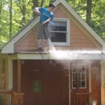 Pressure Washer Shed Cleaning