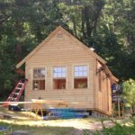 custom shed installation